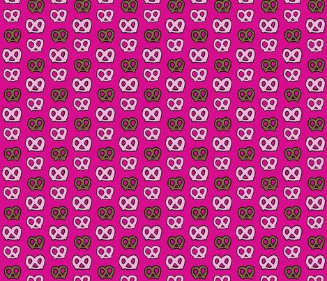 pretzel party-hot pink fabric by hejamieson on Spoonflower - custom fabric