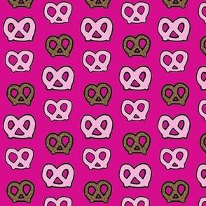 pretzel party-hot pink