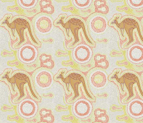 Outback Kangaroo fabric by frankie_maree on Spoonflower - custom fabric