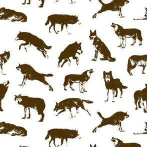 Brown Wolves // Small-size