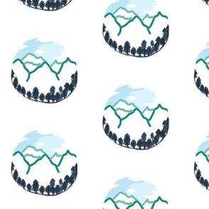 mountain globes