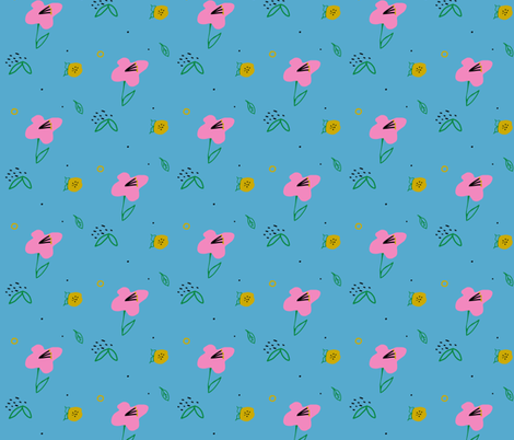 Fancy floral fabric by hejamieson on Spoonflower - custom fabric