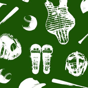 Baseball on Green // Large