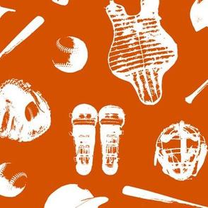 Baseball Gear on Orange // Large