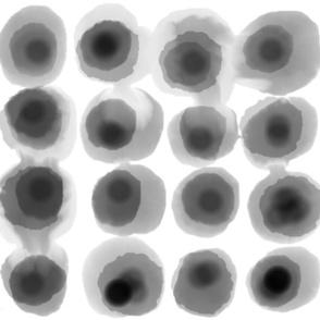 Watercolor Large Spot Black