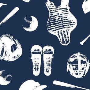 Baseball Gear on Navy Blue // Large