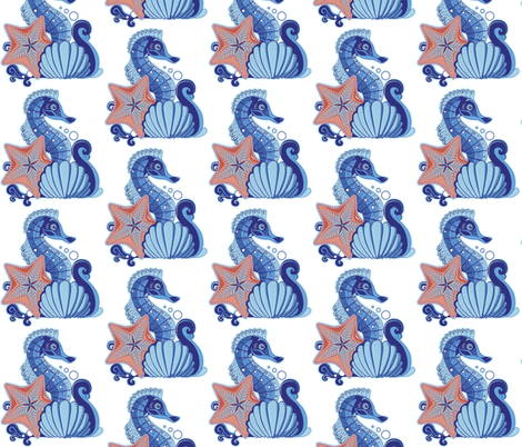 sea animals fabric by zazulla on Spoonflower - custom fabric