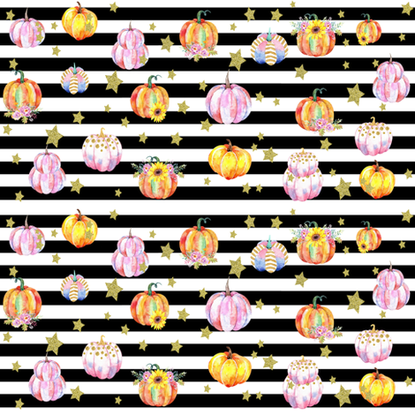 Celestial Pumpkins Small fabric by brookiesdesigns on Spoonflower - custom fabric