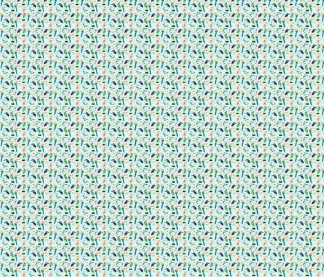 Bird Lineup Mini fabric by sweeterthanhoney on Spoonflower - custom fabric