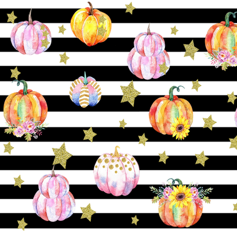 Celestial Pumpkin Large fabric by brookiesdesigns on Spoonflower - custom fabric