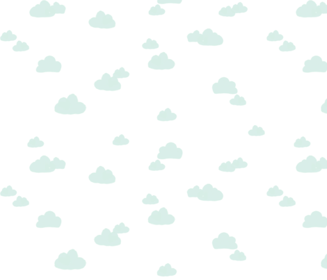 Robin Blue Clouds fabric by sweeterthanhoney on Spoonflower - custom fabric