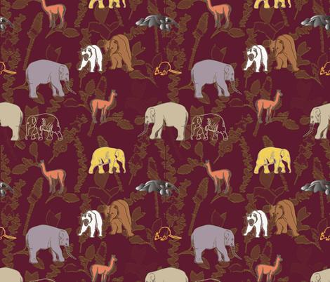 animals by land fabric by svetlankap on Spoonflower - custom fabric