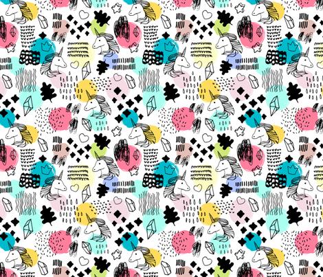 Magic unicorns fabric by skorobogatova on Spoonflower - custom fabric