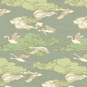 The Wild Swans {Antique Green}