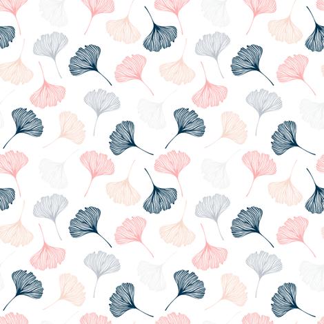 Ginkgo leaves fabric by skorobogatova on Spoonflower - custom fabric