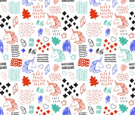 Pattern with unicorns fabric by skorobogatova on Spoonflower - custom fabric
