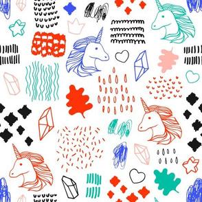 Pattern with unicorns