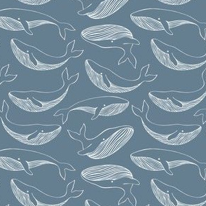 Pattern with whales