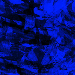 Mountain Rocks Cobalt Blue