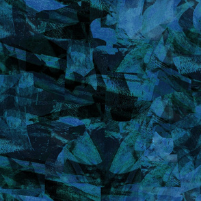 Mountain rocks teal blue