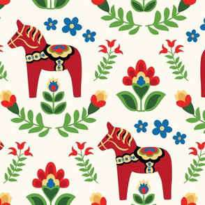 Swedish Folk Dala Horses