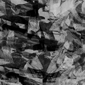 Mountain rocks black and white