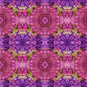 Overlapping mandalas purple