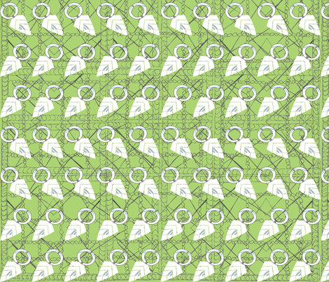 Lime spear fabric by janetteatkinson@yahoo_co_uk on Spoonflower - custom fabric
