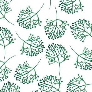 Watercolor Green Leaves