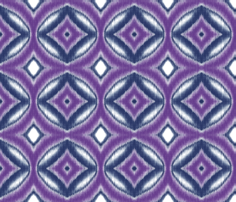 Ikat Circles and Diamonds in Violet and Navy fabric by mel_fischer on Spoonflower - custom fabric