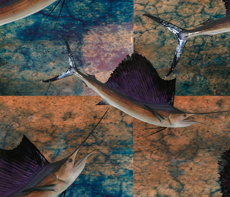 Swordfish fabric by christiebcurator on Spoonflower - custom fabric