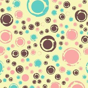 grunge circles and dots