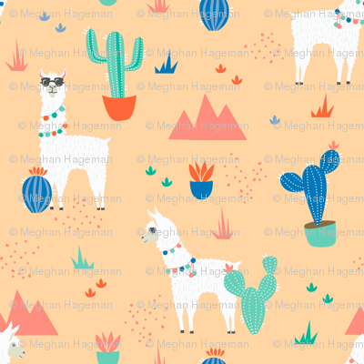 Summer Llamas in the Desert