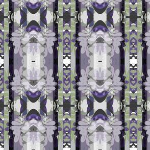 """Frilly Violet & Sage Dress Fabric"""