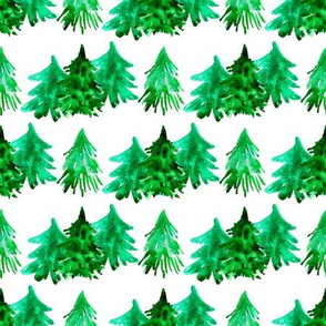 Forest  watercolor  pattern