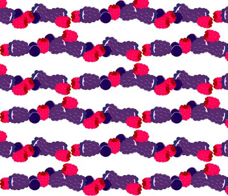 Mixed Berry Stripe fabric by kae50 on Spoonflower - custom fabric