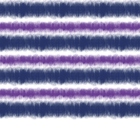 Ikat STRIPES violet navy  fabric by mel_fischer on Spoonflower - custom fabric