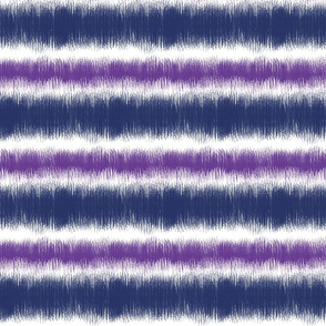 Ikat STRIPES violet navy