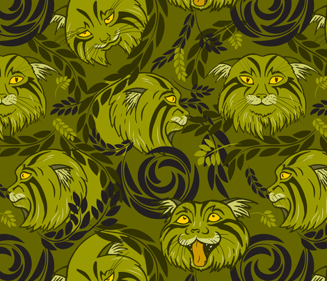 wild cats fabric by minyanna on Spoonflower - custom fabric