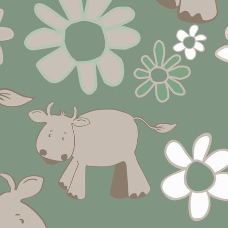 Cowsgreen fabric by kariliz on Spoonflower - custom fabric