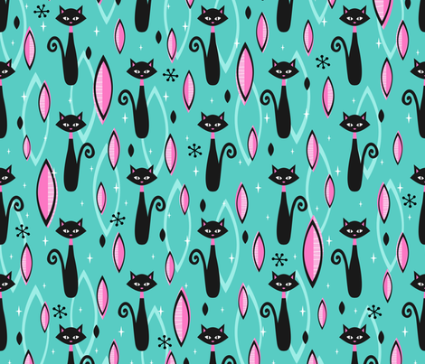 The Cat's Meow fabric by robyriker on Spoonflower - custom fabric