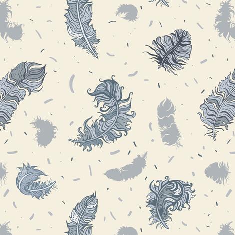 Feathers Pattern fabric by katyau on Spoonflower - custom fabric