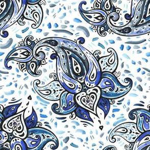 Watercolor Paisley
