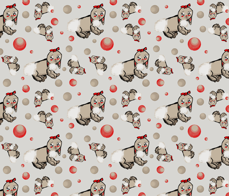Beautiful Bunnies fabric by theartycat on Spoonflower - custom fabric