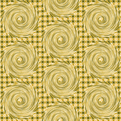 HCF13 - Hurricane in Checkered Field of Olive and Gold