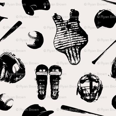 Baseball Gear on Whisper White // Large