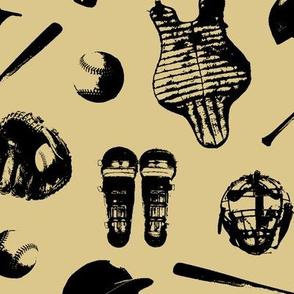 Baseball Gear on Tan // Large