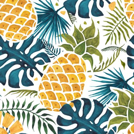 Pineapple fabric by katyau on Spoonflower - custom fabric