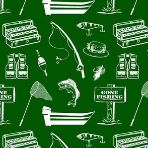 Gone Fishin' // Green // Small