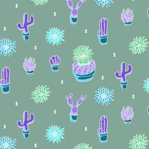 Neon Cacti and Desert Plants